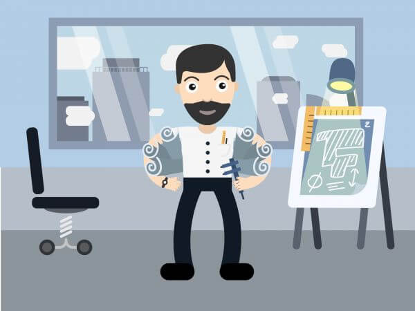 Architect profession vector character illustration vector