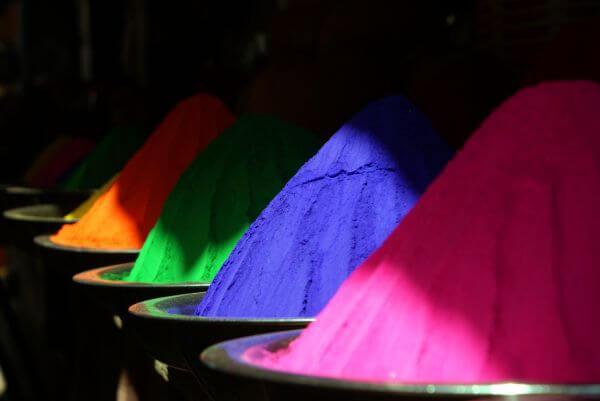 Colored powder photo