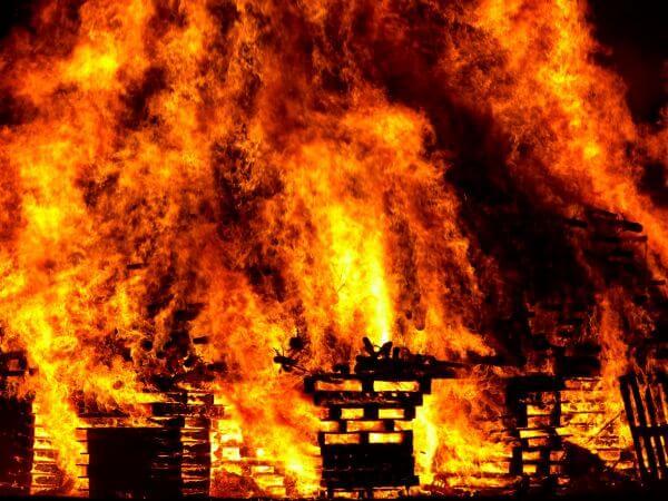 Burning photo
