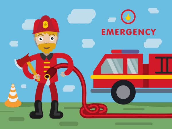 Fireman profession vector character illustration vector