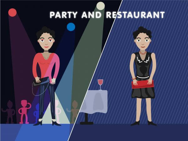 Party girl editor vector character illustration