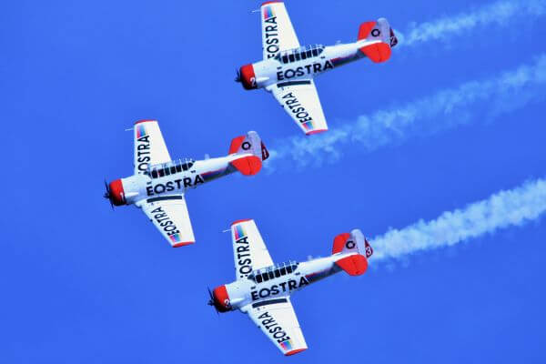 Aerobatic air show photo