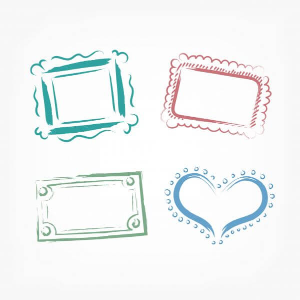 Vector decoration frames for birhday or wedding design vector