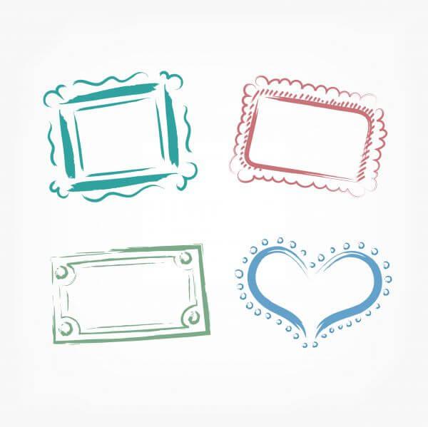 Vector decoration frames for birhday or wedding design vector