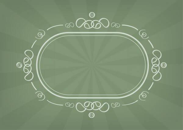 Vector decoration frame for birhday or wedding design vector