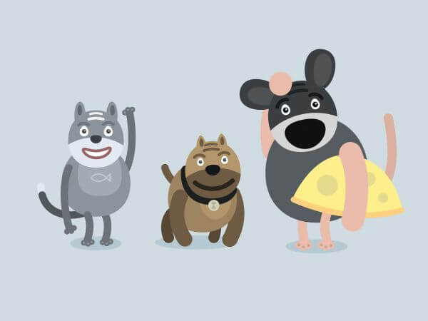 Vector cartoon characters illustration vector