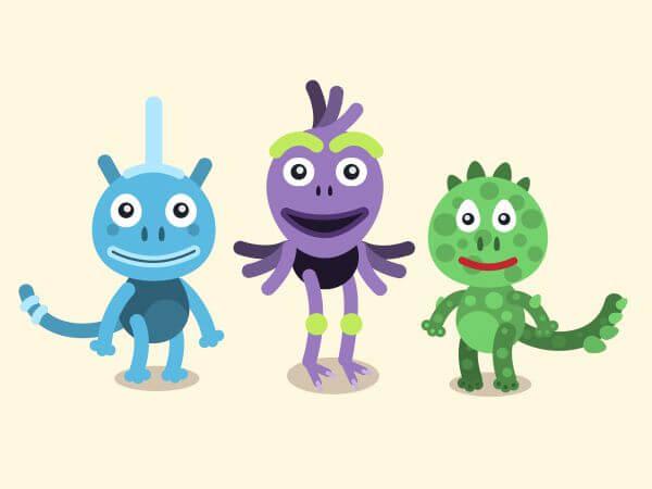 Vector cartoon mascots characters illustration vector
