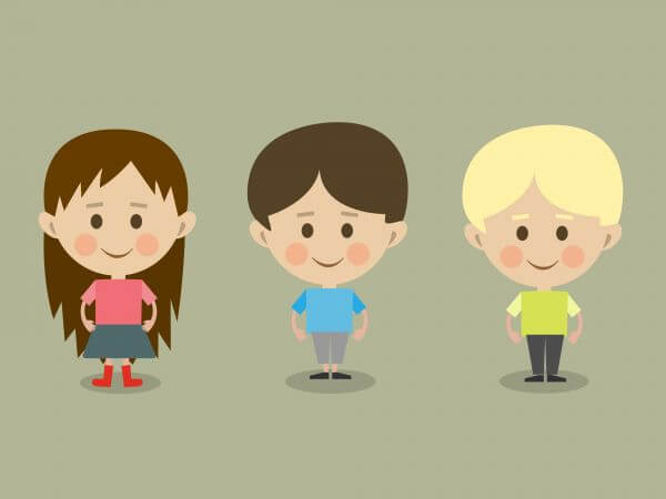 Vector cartoon children characters illustration vector