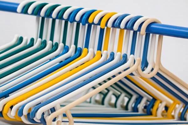 Clothes hangers photo