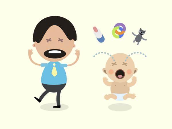Vector cartoon family characters illustration vector