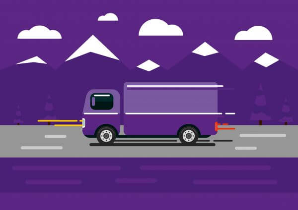 Vector transport illustration for design vector