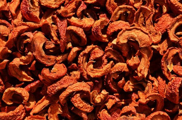 Dried chili peppers photo