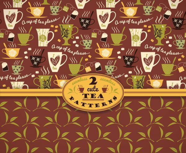 Tea background. Vector seamless pattern.  vector