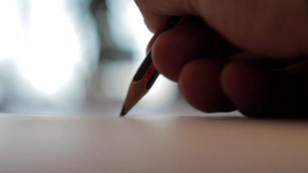 Pencil  write  author video