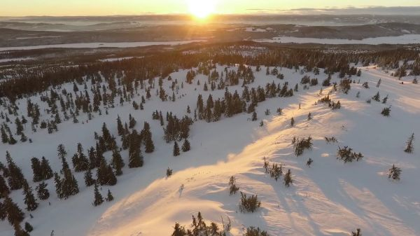 Mountains  beautiful landscape  winter video