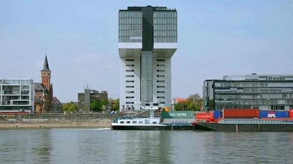 Cologne  rhine  kranhaus video