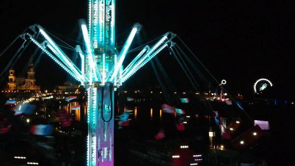 Carousel  dresden  town festival video