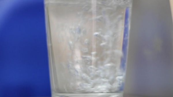 Water  pouring  glass video