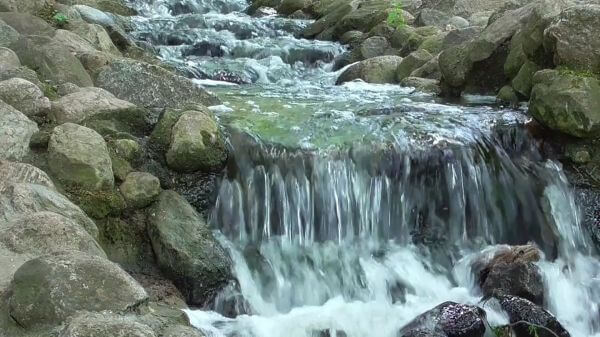 Waterfall  bach  stones video