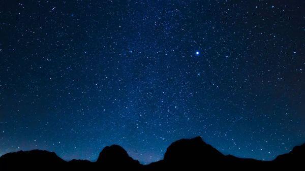 Star  long exposure  starry sky video