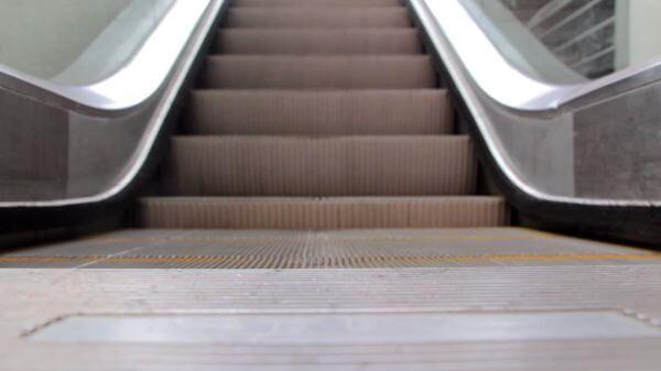 Escalator  stairs  modern video