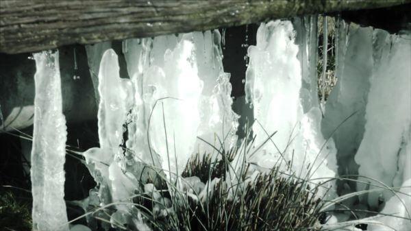Frozen water  winter  ice video