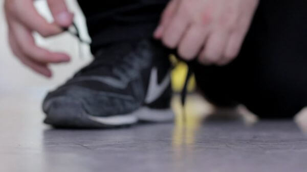 Shoe laces  tying  shoes video