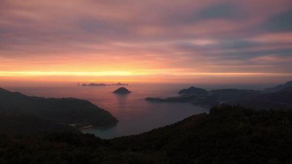 Islands  ocean  sunrise video