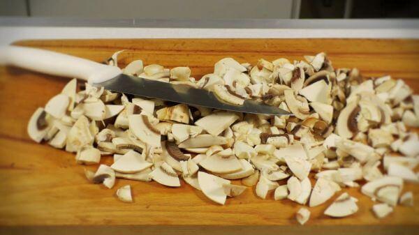 Food  mushrooms  knife video