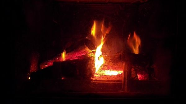 Fireplace  fire  wood video