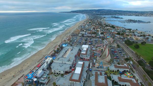 Coastline  beach  city video