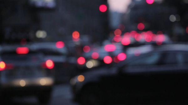 Traffic  night  lights video