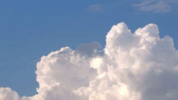 Clouds  cumulus  sky video