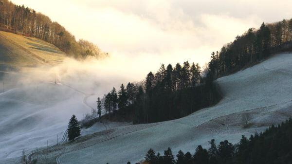Wave of fog  fog  mist flow video