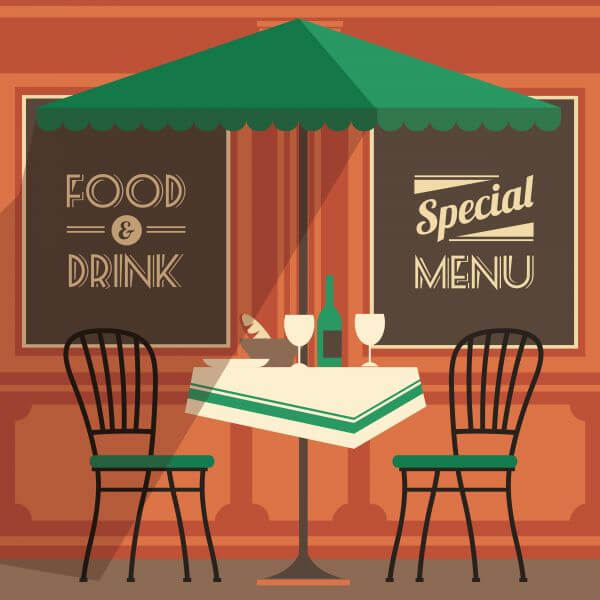 Illustration of street cafe vector