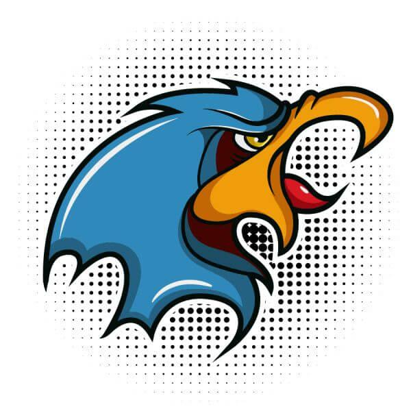 Bird vector mascot vector