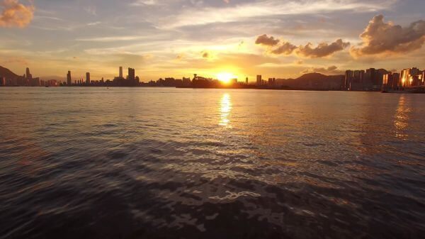 Harbor  sunset  landscape video