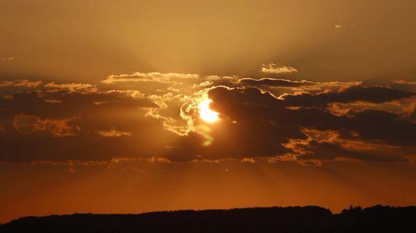 Sun  clouds  sunrise video