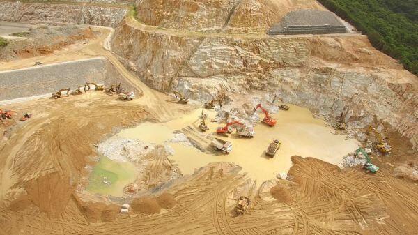 Working site  excavator  construction video