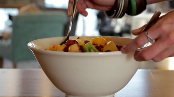 Fruit salad  bowl  fruits video