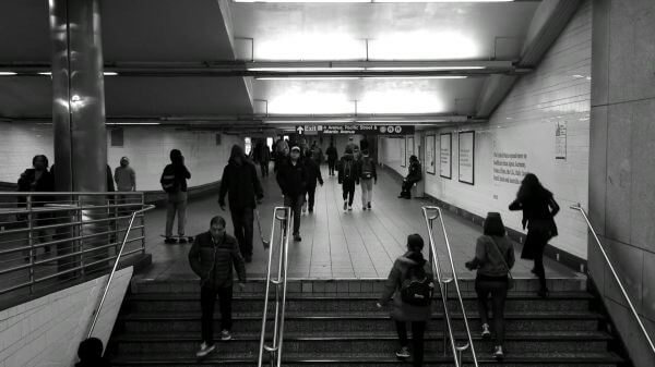 Subway  stairs  people video
