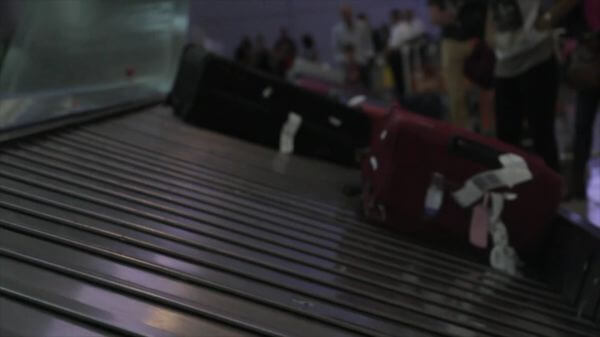 Baggage claim  luggage belt  airport video