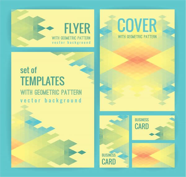 Set of business templates with geometric pattern. Vector background. vector