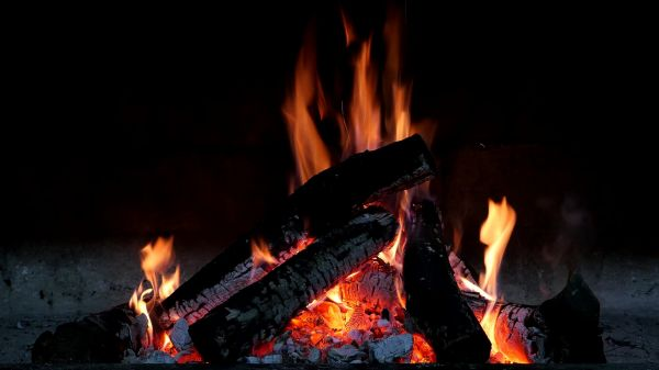 Fireplace  fire  flames video