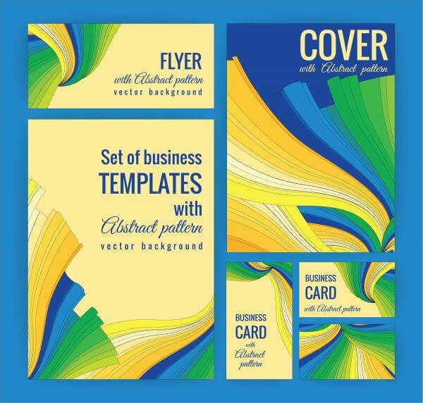 Set of business templates with abstract pattern. Vector background. vector