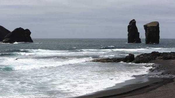 Rock formation  coast  ocean video