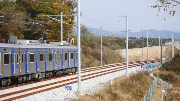 Train  railway  republic of korea video
