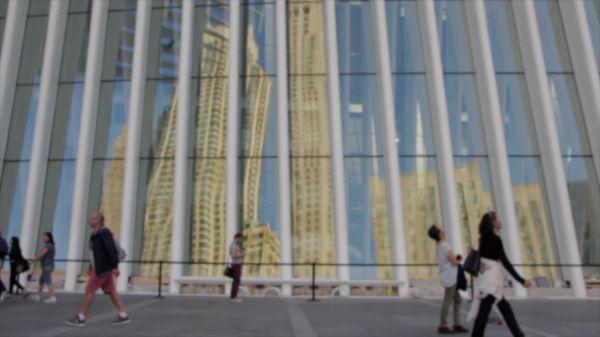 City  skyscraper  bokeh video