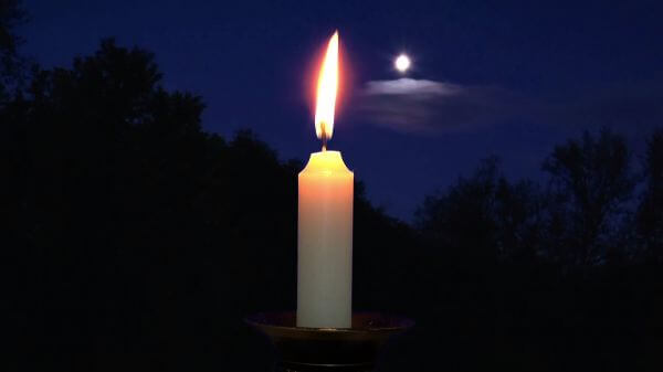 Candle  night  moon video