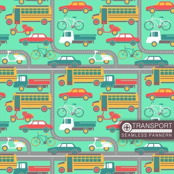 City transport seamless pattern vector